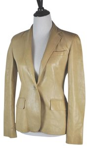 Ralph Lauren Leather Beige Leather Jacket