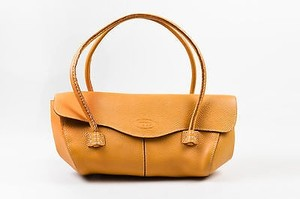 Tod's Tods Grain Leather Satchel in Tan