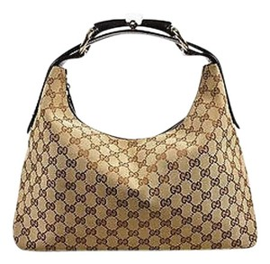 Gucci Tan Monogram Hobo Bag