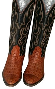 Nocona Croc Alligator Crocodile Tan Boots