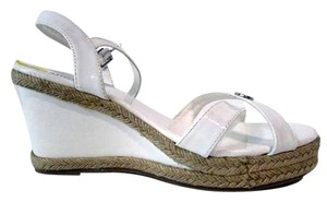 Michael Kors Strappy Sandals Buckle White Wedges