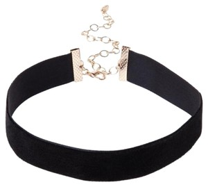 Modern Edge Velvet Choker Necklace
