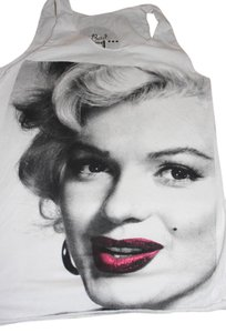 Bad Conceptual Marilyn Monroe Like New Top White
