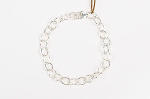 Heather B. Moore Sterling Silver Oval Chain Link Bracelet