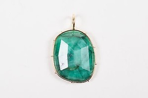 Other Heather B. Moore 14k Yellow Gold Green Emerald Harriet Stone Pendant