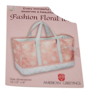 American Greetings Tote in Pink and white