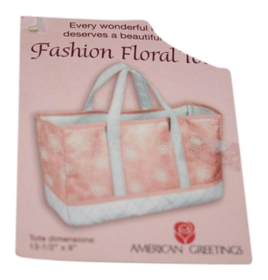 American greetings pink and white acrylic tote tradesy american greetings tote in pink and white m4hsunfo