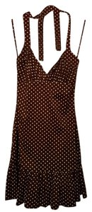 BCX short dress Brown Polka Dot Halter on Tradesy
