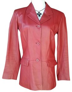 Preston & York Leather Jacket Red Blazer