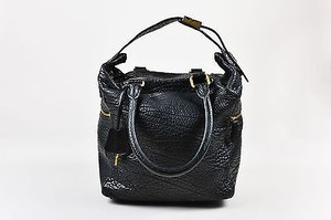 Céline Celine Pebbled Leather Tote in Black