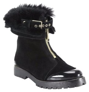 Burberry Quinsley Boot Shearling Fur BLACK Boots