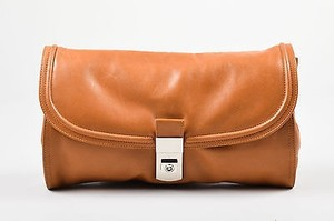 Dries van Noten Leather Brown Clutch