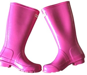 Hunter Pink(hint of silver glitter) Boots