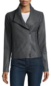 Vince Iron Grey Leather Jacket