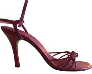 Guess By Marciano Leather Strappy Pink Sandals