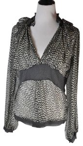 La Perla Romantic Polka Dot New Without Tags Sheer Top Multi-color