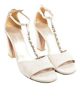 Chanel Suede Leather Beige Sandals