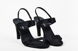 Giorgio Armani Satin Black Sandals