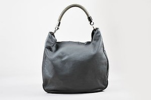 Saint Laurent Yves Leather Stingray Handle Roady Hobo Bag