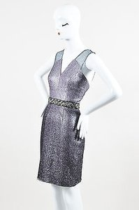 Phoebe Couture Silver Metallic Dress