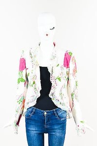 Emanuel Ungaro White Pink Multi-Color Jacket