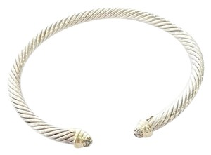 David Yurman David Yurman 925 and 18kyg Cable Classic Pave diamond Cuff