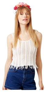 Topshop Top White Combo