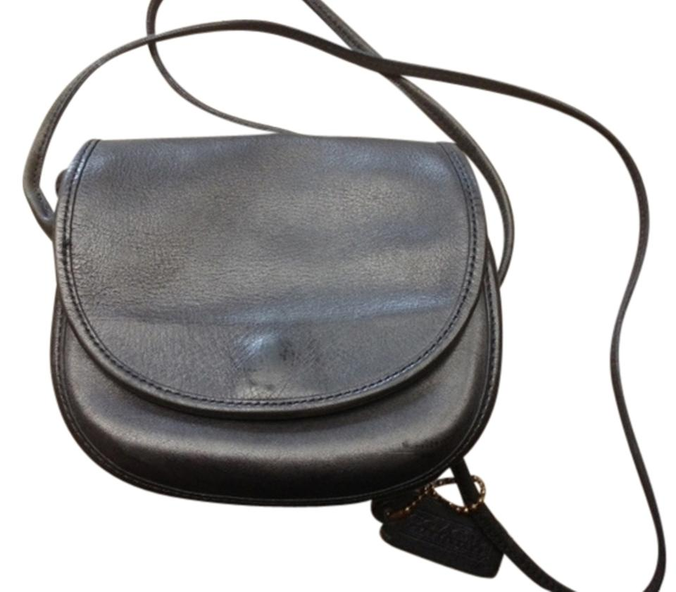c0813cf0de29 Coach Vintage Purse Numbered #101-12 Navy Blue Leather Cross Body ...