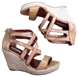 Twelfth St. by Cynthia Vincent Wedge Espadrille Tan Wedges