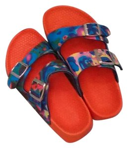 Birkenstock Orange/tyedye Sandals