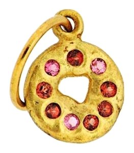 Other THE CUTEST - 18K gold Lee Brevard garnet donut charm/pendant