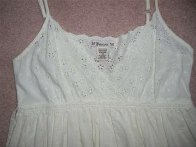 Forever 21 short dress Cream Scalloped Lace Empire Waist on Tradesy