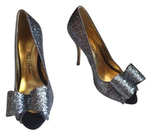 Ted Baker Brand New Glitter Evening Bow Silver Formal