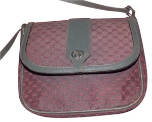 Gucci Classic Style Mint Vintage Rare Colors-grey/red Pink/red Envelope Top Cross Body Bag