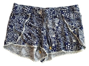 Lilly Pulitzer for Target Mini/Short Shorts Navy blue and white