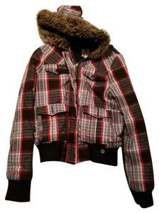 Roxy Faux Fur Plaid Jacket