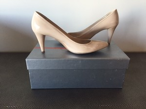 Prada Patent Leather Leather Pump Nude Pumps