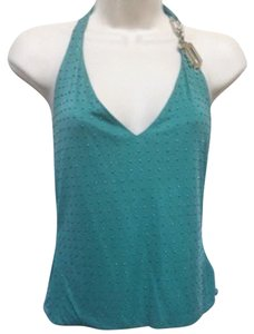 Versace Jade Green Halter Top