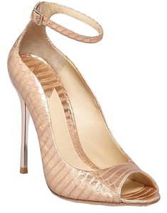 Brian Atwood Rose gold Platforms