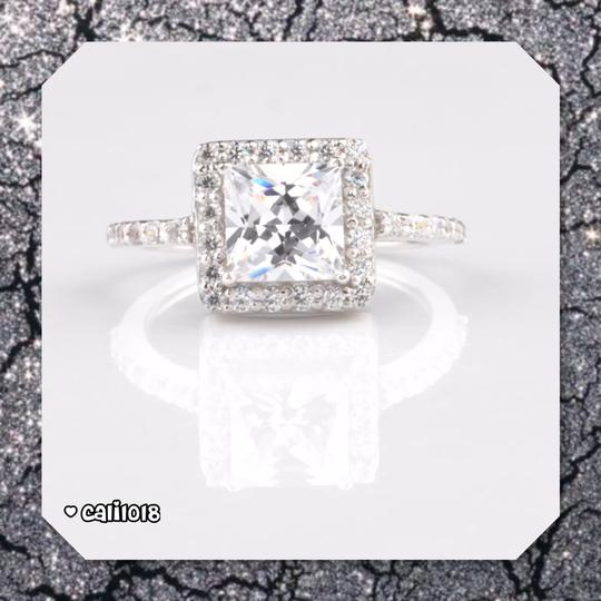 Solid Sterling Silver New 2.60ct Vvs1 Simulated Diamond Engagement Ring Image 1