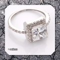 Solid Sterling Silver New 2.60ct Vvs1 Simulated Diamond Engagement Ring Image 3