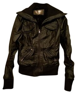 Ci Sono Faux Leather Motorcycle Jacket