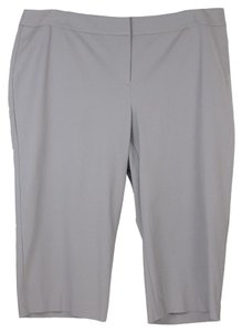 INC International Concepts Capri/Cropped Pants Gray