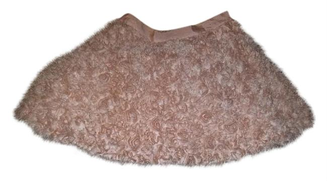 Item - Pink Pastel Textured Flower Skirt Size 4 (S, 27)
