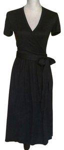 Diane von Furstenberg short dress Black Dvf Wrap Around on Tradesy