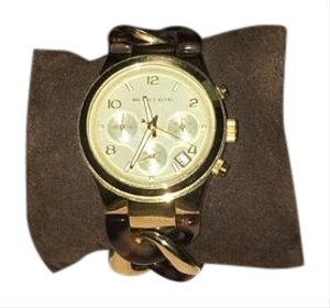 Michael Kors chain link acrylic & gold tone womens watch