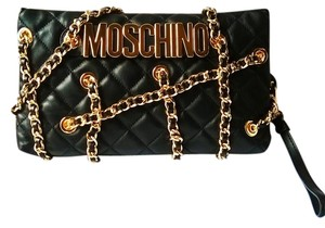 Moschino Leather Gold Limited Edition Clutch