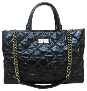 Chanel Collection Quilted Satchel in black