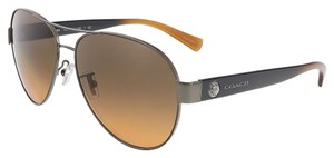 Coach Coach Dark Silver Aviator Sunglasses