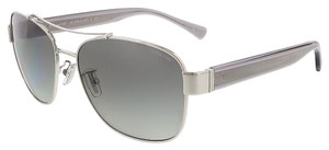 Coach Coach Silver/Dark Grey Aviator Sunglasses